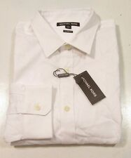 Michael Kors Men's White Tailored Fit Casual Dress Shirt