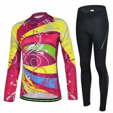 New Outdoor Womens Cycling Bike Long Sleeve Clothing Wear Suit Jersey + pants