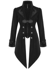 Devil Fashion Womens Jacket Coat Black Velvet Goth Steampunk Aristocrat Regency