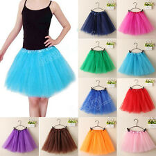 Summer Women Ballet Tutu Dress Layered Organza Lace Party Mini Princess Skirt