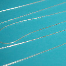 WHOLESALE LOTS Fine 0.6mm Sterling SILVER 925 Stringing CHAIN Bulk by the foot