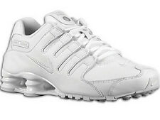 CLASSIC MENS NIKE SHOX NZ RUNNING SHOES TRAINERS WHITE / WHITE