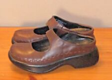 Dansko Midori Brown Leather Slip On Mary Jane Mule Clog sz 36 Womans  5.5-6