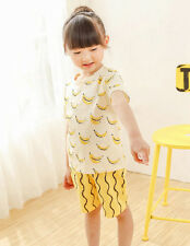 Toddler Kids Baby Boys Girls Short Sleeve T-shirt +  Pants Sets Outfits Clothes