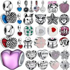 Fashion Cute Bead Design 925 Silver Charms For Handmade Bracelets Women Jewelry