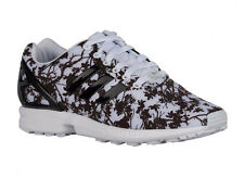 NEW WOMENS ADIDAS ORIGINALS ZX FLUX RUNNING SHOES TRAINERS WHITE / BLACK / WHITE