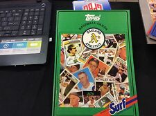 Oakland A's 1987 SURF Topps Baseball Card Book