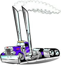 Peterbilt Semi Rig Truck Cartoon for Kids Size T-shirts #1030KG