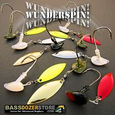 Bassdozer WUNDERSPIN jig heads. Bass fishing underspin jigs. Incredible colors!