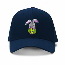 Easter Bunny Embroidery Embroidered Adjustable Hat Baseball Cap
