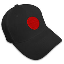 Japanese Flag Seal Embroidery Embroidered Adjustable Hat Baseball Cap