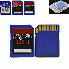 32GB 64GB 128GB Flash SD Card Secure Digital Memory Card For Camera DSLR + Case