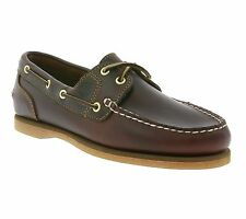 NEW Timberland Amherst 2 Eye Boat Shoes Women's Real leather Brown 72333