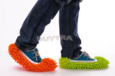 1X Dust Floor Cleaning Slippers Shoes Mop House Clean Shoe Cover Multifunction B