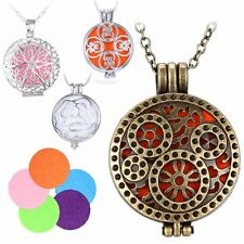 Vintage Charms Locket Fragrance Essential Oil Aromatherapy Diffuser Necklace
