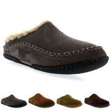 Mens Sorel Falcon Ridge Slip On Fur Lined Winter Warm Mules Slippers UK 7-12
