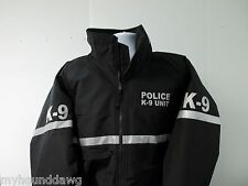 Reflective Police K-9 Jacket with Striping, All Weather Jacket, Black & Navy