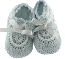 Baby Boys Blue Crochet Knit Baby Booties Petit Ami
