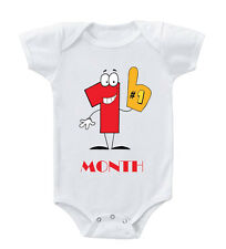 1 Month Cotton Baby Bodysuit One Piece