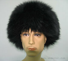 UZBEK TURKMEN CAUCASUS TRADITIONAL LONG FUR HAT-TELPAK, PAPAHA BLACK COLOR #6997