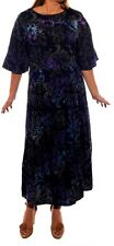 Plus Size We Be Bop DELILA Hand Crafted  Artsy Batik Flat Rayon EASY Dress 5X 6X
