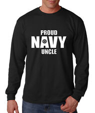 PROUD NAVY UNCLE MILITARY Long Sleeve Unisex T-Shirt Tee Top