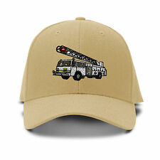 Firefighter Truck Hook And Ladder Embroidered Adjustable Hat Baseball Cap