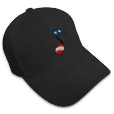 Music Note American Flag Embroidery Embroidered Adjustable Hat Baseball Cap