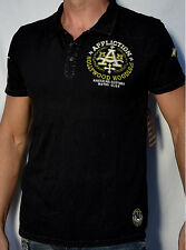 Affliction American Customs HOODLUMS Men's Polo Shirt - NEW - A4818 - Black