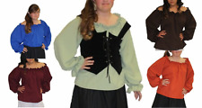 LADY PIRATE PEASANT RENAISSANCE MEDIEVAL WENCH CARIBBEAN COSTUME BLOUSE SHIRT
