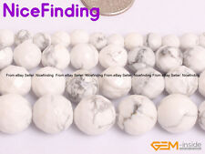 Natural White Howlite Turquoise Faceted Round Beads For Jewelry Making 6mm-12mm