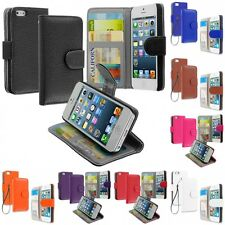 Wallet Flip Pouch Case Cover With ID Credit Card Slots for Apple iPhone 5/5S/SE