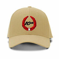 10Th Years Anniversary Embroidery Embroidered Adjustable Hat Baseball Cap