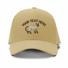Your Text Here Custom Siamese Embroidered Adjustable Hat Baseball Cap