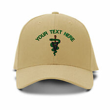 Your Text Here Custom Vet Logo Embroidered Adjustable Hat Baseball Cap