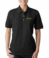 There Is No Place Like Home Embroidery Embroidered Woman Golf Polo Shirt