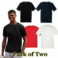 Mens Fruit of the Loom 2 Pack Performance T Shirt,  Mens T-shirt 4 Colours