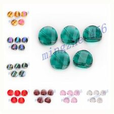 27 Colors Faceted Glass Crystal Twist Tile Beads Spacer 18mm 10/20pcs Charms