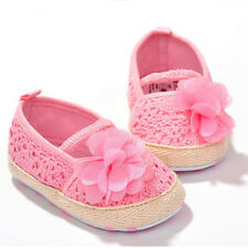 Baby Girl Flower Crocheted Crib Shoes Anti-slip Toddler Newborn Shoes 0-12Month1