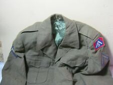 WWII Era Private 5th Army 42 Reg Uniform Vintage Wool Military Coat & Patches  T