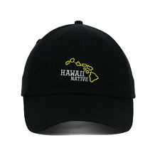 Hawaii State Native Embroidered SOFT Unstructured Adjustable Hat Cap