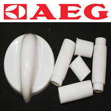 AEG Cooker Oven Hob Gas Electric Control Knob White 5 shaft sizes