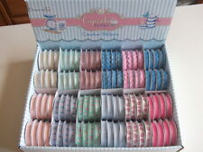 1 REEL DOVECRAFT CUPCAKE BOUTIQUE RIBBON - choice of design ribbons ric rac