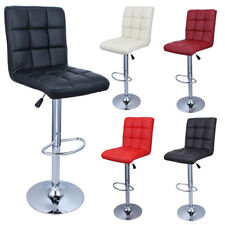 Set of 2 Modern Bar Stools Leather Hydraulic Swivel Dinning Chair Pair Barstools