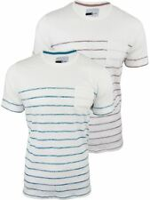 Mens Striped Short Sleeved T-Shirt by D-Code