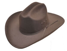 New! Brown Faux Felt Cowboy Hat with Brown Band - Elastic - S/M, L/XL, Kids