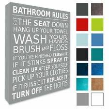Bathroom Wall Picture Bathroom Rules Wall Art Canvas Prints A1/A2/A3/A4