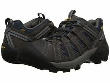 New Keen Mens Voyager Gray Leather Athletic Trail Running Hiking Shoes 9.5-17