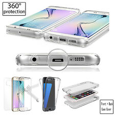 360 Full Body Shockproof Soft TPU Case Cover For Samsung & iPhone & LG & Sony