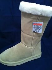 BEIGE LADIES UGG BOOTS PULL ON STYLE GENUINE SUEDE WITH WOOL BLEND LINING